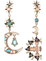 Drop Earrings New Mismatching Asymmetry Earrings Personalized  Fashion Opal Contracted The Sun and Moon For Women Daily Party Gift Movie Jewelry