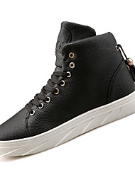 Men's Sneakers Fashion Boots TPU Fall Winter Casual Outdoor Fashion Boots Low Heel Ruby Black White Under 1in