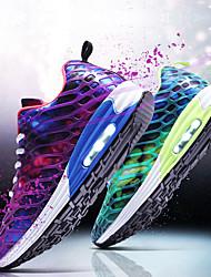 Unisexe Chaussures d'Athlétisme Semelles Légères Tulle Printemps Eté Athlétique Course à Pied Semelles Légères Talon BasViolet Fuchsia