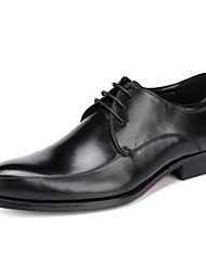 Masculino Sapatos De Casamento Sapatos formais Pele Real Pele Primavera Outono Sapatos formais Preto Vinho Menos de 2,5cm