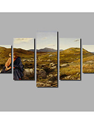 5pieces Landscape Frameless Home Wall Art For Livingroom Decoration Jesus Portrait Painting on Canvas Posters
