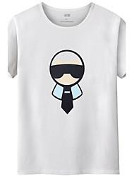 Herren Buchstabe & Nummer Einfach Geburtstag Alltag Normal Abschlussball Lässig/Alltäglich T-shirt,Rundhalsausschnitt Sommer Kurzarm