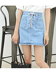 Women's Going out Above Knee Skirts A Line Solid Summer
