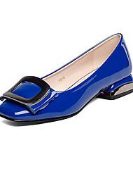 Feminino Saltos Sapatos formais Courino Primavera Outono Sapatos formais Salto Grosso Branco Preto Azul Amêndoa 12 cm ou mais