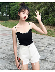 Women's High Waist Micro-elastic Shorts Pants,Simple Loose Solid