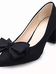 Femme Chaussures à Talons Polyuréthane Printemps Eté Décontracté Noeud Talon Aiguille Noir Violet Fuchsia Rouge 10 à 12 cm