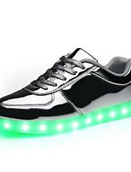 Unisex Sneaker Komfort Sommer PU Normal Gold Silber Flach