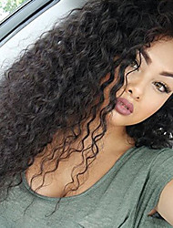 Lace Front Wigs Human Hair Curly Wigs for Women with Baby Hair Brazilian Remy Human Hair Wavy Glueless Lace Front Wig 180% Density