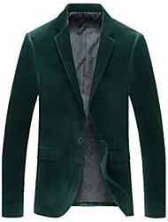 U&Shark Mens Dark Green Corduroy Suit/8014