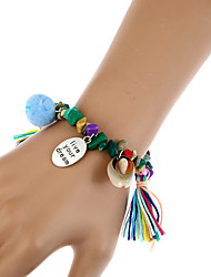 Femme Chaînes & Bracelets Charmes pour Bracelets Bracelets Vintage Bohême Turc Résine Métal Alliage Forme Géométrique Bijoux Pour