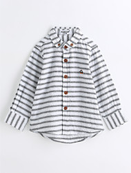 Boys' Stripes Animal Print Shirt,Cotton Spring Fall Long Sleeve