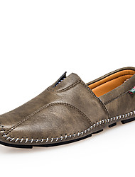 Homme Chaussures PU de microfibre synthétique Automne Hiver Confort Semelles Légères Mocassins et Chaussons+D6148 Marche Couture en