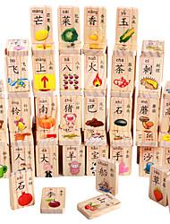 Costruzioni Gioco educativo Domino per il regalo Costruzioni Lengo naturale 6 anni e sopra 3-6 anni Giocattoli