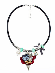 Women's Statement Necklaces Flower Alloy Euramerican Fashion Jewelry For Party