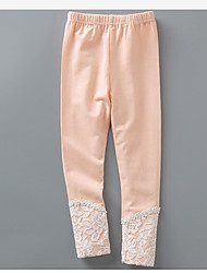 Pantalones Chica Un Color Algodón Primavera Invierno