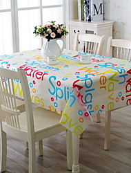Home Daily Extinguishing Anti-oil And Water Cotton And Linen Table Cloth 130*180cm Color Letters
