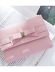 Women Coin Purse PU Canvas All Seasons Casual Outdoor Rectangle Magnetic Light Blue Gray Blushing Pink