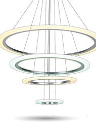 Luminaires suspendus en plafonnier chromé à LED modernes lampadaires plafonniers éclairage éclairage intérieur lampe éclairage 68w