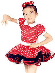 MiDee Ballet Dance Dancewear Children's Polka Dots Tutu Ballet Dresses Solo Dance Dress
