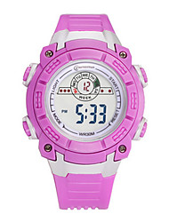 Kid's Sport Watch Digital Watch Digital Water Resistant / Water Proof Noctilucent Rubber Band Blue Purple Yellow