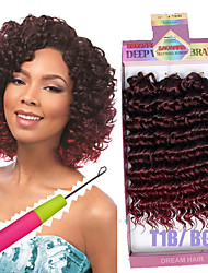 Synthetic braided deep wave style 3pc/pack Curlkalon 10inch freetress water wave hair crochet braids deep curly hair 3X Braid Savana bohemian hair