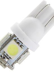 1.5w dc12v t10 5led smd5050 lumière arrière lumière de la porte plaque d'immatriculation blanc clair blanc chaud blanc bleu glace bule
