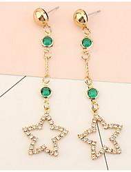 Drop Earrings Women's Euramerican Elegant  Earrings Star Rhinestoneor Earrings Daily Party  Gift Movie Jewelry