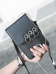 Femme Mobile Bag Phone Polyuréthane Toutes les Saisons Décontracté Baguette Magnétique Blanc Noir Rose Claire Gris