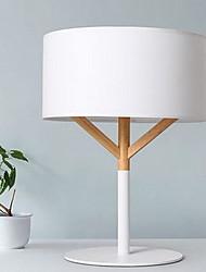 Modern Minimalist Linen Bedroom Wood Lamp