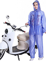 Motorcycle Transparent Blue Point Raincoats Trousers Split Suit Adult Personality Thick