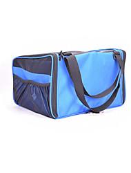 Gato Cachorro Tranportadoras e Malas Animais de Estimação Transportadores Portátil Respirável Dobrável Sólido Estampa Colorida Azul