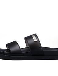 Men's Slippers & Flip-Flops Novelty Spring Summer PU Casual Black Ruby Blue Flat