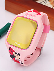 Kid's Smart Watch Digital Silicone Band Blue Silver Red Pink