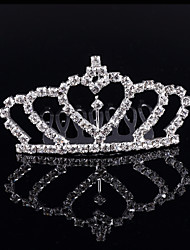 2017 New Design Girls Jewelry Headdress Kids Princess Rhinestone Tiaras Crown Child's Hair Comb Headband Women Gifts
