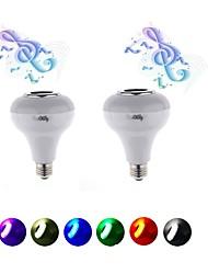 YouOKLight 2PCS E26/E27 5W AC220V Smart RGB Wireless Bluetooth Speaker Bulb Music Playing LED Bulb