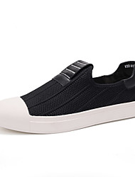 Men's Loafers & Slip-Ons Comfort Customized Materials Spring Fall Athletic Casual Outdoor Comfort Split Joint Flat Heel Ruby Black Flat