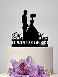 Personalized Acrylic Big Day Wedding Cake Topper