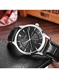 Couple's Fashion Watch Quartz Leather Band Casual Black Blue Brown