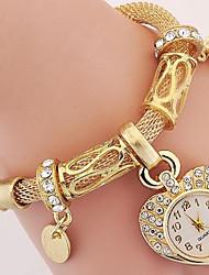 Women's Bracelet Watch Digital Metal Band Silver Gold