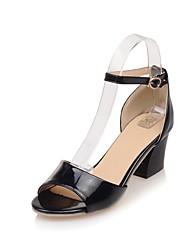 Damen Sandalen Pumps PU Sommer Normal Kleid Party & Festivität Pumps Schleife Blockabsatz Weiß Schwarz Rosa 2,5 - 4,5 cm
