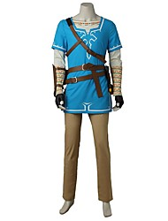 Inspired by The Legend of Zelda Cosplay Video Game Cosplay Costumes Cosplay Suits Fashion Shirt Top Pants Gloves Bag More Accessories