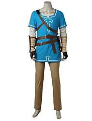 Inspirado por The Legend of Zelda Fantasias Vídeo Jogo Fantasias de Cosplay Ternos de Cosplay FashionCamisa Blusa Calças Luvas Bolsa Mais