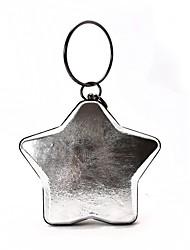 Women Shoulder Bag PU All Seasons Casual Round Kiss Lock Purple Silver Black Blue