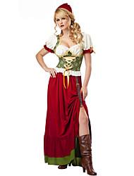 Costumes de Cosplay Costume de Soirée Tenus de Servante Fête d'Octobre/Bière Fête / Célébration Déguisement d'Halloween Rouge Couleur