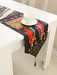 Dancing Bodhi Garden  Cotton And Linen Table Flag 30*180cm