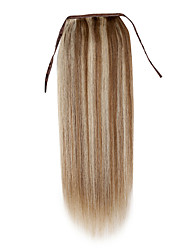 20inch silk straight clip in high ponytail human hair extension 100g