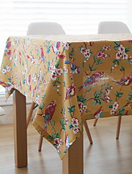 Japanese-style Retro Flowers And Birds Cotton And Linen Material Table Cloth 40*60cm