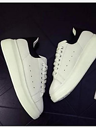 Women's Sneakers Comfort PU Summer Casual Comfort Creepers White 1in-1 3/4in