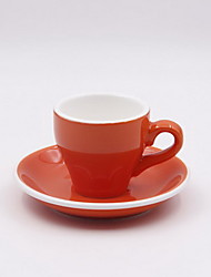 European Color Ceramic Cappuccino Coffee Cup Set