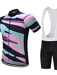 Maillot de Ciclismo con Shorts Bib Hombre Manga Corta Bicicleta Sudadera Camiseta/Maillot Shorts/Malla corta Camisas Tops Secado rápido